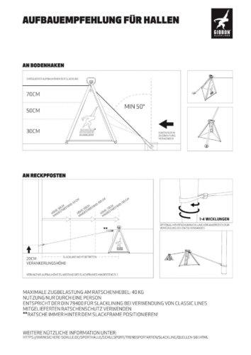 Slackline Guide für den Aufbau in Sporthallen